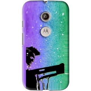Snooky Printed Sparkling Boy Mobile Back Cover For Motorola Moto E2 - Multi