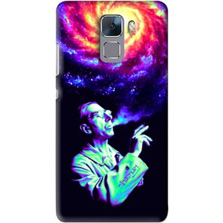 Snooky Printed Universe Mobile Back Cover For Huawei Honor 7 - Multi