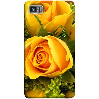 FUSON Designer Back Case Cover For Lenovo K860 :: Lenovo IdeaPhone K860 (Friendship Yellow Roses Chocolate Hearts For Valentines Day)