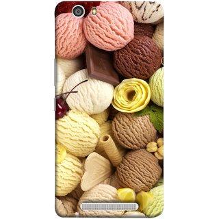 FUSON Designer Back Case Cover For Gionee Marathon M5 Lite (Cool Desserts Flavors Banana Chocolate Chips)