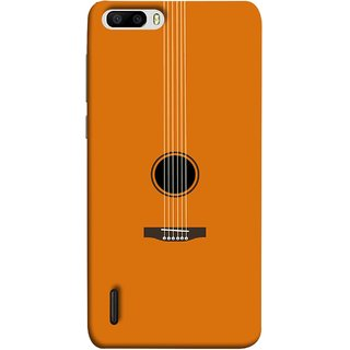 FUSON Designer Back Case Cover For Huawei Honor 6 Plus (Musical Instrument Vintage Bass Music Lovers Play)