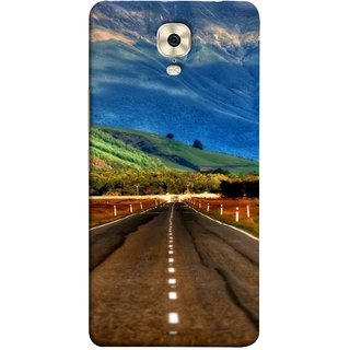 FUSON Designer Back Case Cover For Gionee M6 Plus (Scenic Road And Beautiful Mountains Highway Nature)