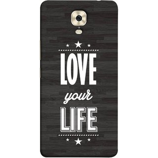 FUSON Designer Back Case Cover For Gionee M6 Plus (Always Love Your Life Fullest For Family )