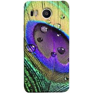FUSON Designer Back Case Cover For LG Nexus 5X :: LG Google Nexus 5X New (Close Up View Of Eyespot On Male Peacock Feather)