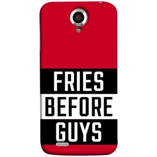 FUSON Designer Back Case Cover For Lenovo S820 (Food Before Dudes Food Lovers Mac D Lovers )