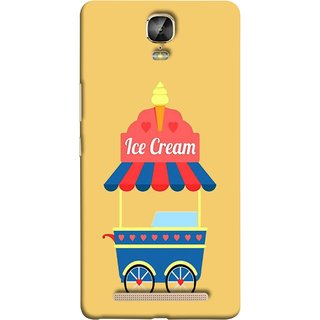 FUSON Designer Back Case Cover For Gionee Marathon M5 Plus (Ice Cone Pineapple Flavour Wheels Hearts Shade )