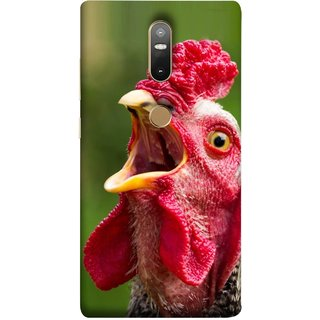 FUSON Designer Back Case Cover For Lenovo Phab 2 Plus :: Lenovo Phab2+ (A Crowing Chicken Green Grass Village Morning )