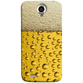 FUSON Designer Back Case Cover For Lenovo S820 (Party Friendship Yaro Ki Mahfil Cold Chilled Beer Glass )