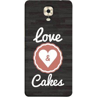 FUSON Designer Back Case Cover For Gionee M6 Plus (Heart Shape Cakesbest Perfect Wow Pyar Prem)