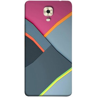 FUSON Designer Back Case Cover For Gionee M6 (Bright Beautiful Colour Strips And Band Wave Triangle)