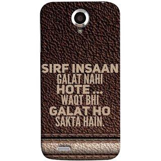 FUSON Designer Back Case Cover For Lenovo S820 (Waqt Bhi Galat Ho Sakta Hai Theme Brown Background)