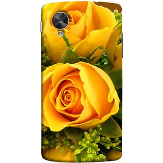 FUSON Designer Back Case Cover For LG Nexus 5 :: LG Google Nexus 5 :: Google Nexus 5 (Friendship Yellow Roses Chocolate Hearts For Valentines Day)
