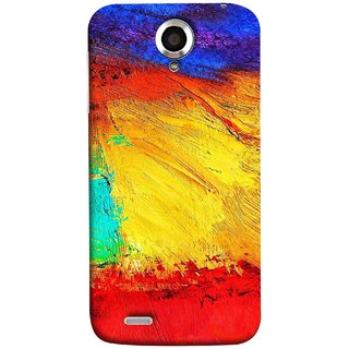 FUSON Designer Back Case Cover For Lenovo S820 (Colour Canvas For Hall Bedroom Painting Intresting Lot)
