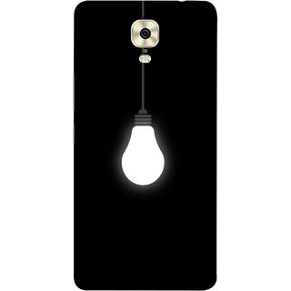 FUSON Designer Back Case Cover For Gionee M6 (Hanging Light Bulb In Dark Room Ceiling Darkness )