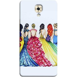 FUSON Designer Back Case Cover For Gionee M6 Plus (Backless Prom Dress Gowns Dolls Curly Hairs Long)