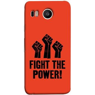 FUSON Designer Back Case Cover For LG Nexus 5X :: LG Google Nexus 5X New (Always Fight For Truth Justice Will Stand Tall In Sky )