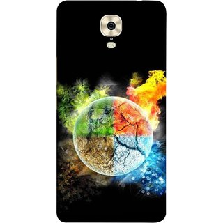 FUSON Designer Back Case Cover For Gionee M6 (Greenery Whole Circle Earth Cracks Blue Ice)