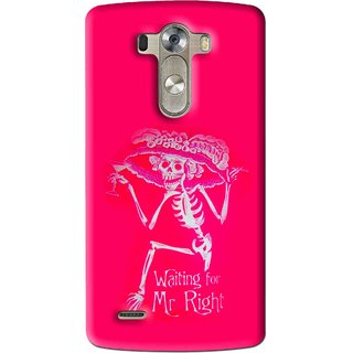 Snooky Printed Mr.Right Mobile Back Cover For Lg G3 - Multi