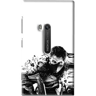 Snooky Printed Commando Mobile Back Cover For Nokia Lumia 920 - Multi