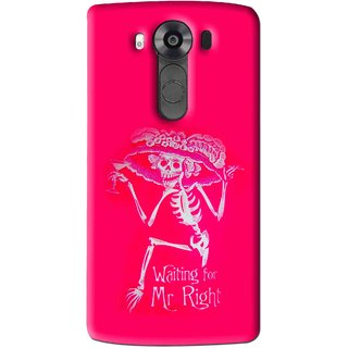 Snooky Printed Mr.Right Mobile Back Cover For Lg V10 - Multi