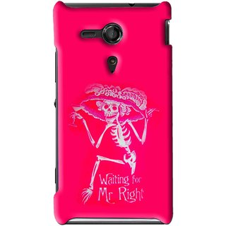 Snooky Printed Mr.Right Mobile Back Cover For Sony Xperia SP - Multi