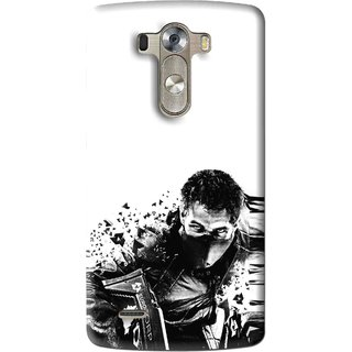 Snooky Printed Commando Mobile Back Cover For Lg G3 - Multi