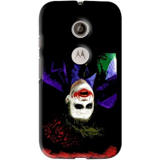 Snooky Printed Hanging Joker Mobile Back Cover For Motorola Moto E2 - Multi