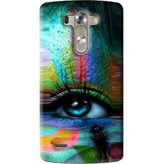 Snooky Printed Designer Eye Mobile Back Cover For Lg G3 - Multi