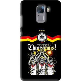 Snooky Printed Champions Mobile Back Cover For Huawei Honor 7 - Multi