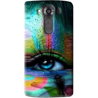Snooky Printed Designer Eye Mobile Back Cover For Lg V10 - Multi