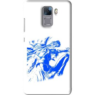 Snooky Printed Horse Boy Mobile Back Cover For Huawei Honor 7 - Multi