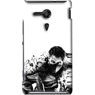Snooky Printed Commando Mobile Back Cover For Sony Xperia SP - Multi