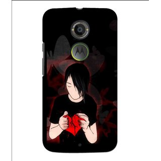 Snooky Printed Broken Heart Mobile Back Cover For Moto X 2nd Gen. - Multi