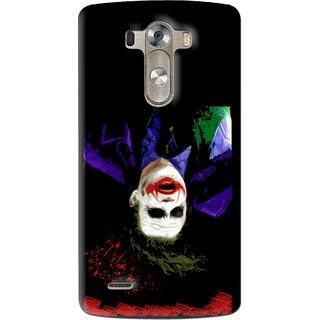 Snooky Printed Hanging Joker Mobile Back Cover For Lg G3 - Multi