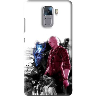 Snooky Printed Fighter Boy Mobile Back Cover For Huawei Honor 7 - Multi
