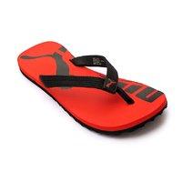 Puma Mens Black Red Flip Flops