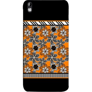 FUSON Designer Back Case Cover For HTC Desire 816 :: HTC Desire 816 Dual Sim :: HTC Desire 816G Dual Sim (White Gray Yellow White Black Flowers Unstitched)
