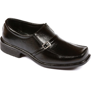 Stylos Men's 6005 Black  Leather Shoes