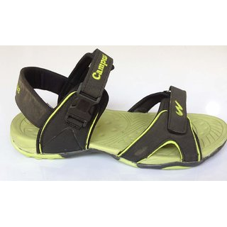 8a6193d035ced Buy CAMPUS BLACK GREEN JAZZY MEN SANDAL Online   ₹999 from ShopClues