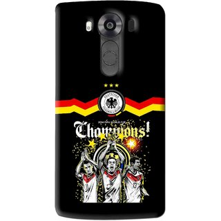 Snooky Printed Champions Mobile Back Cover For Lg V10 - Multi
