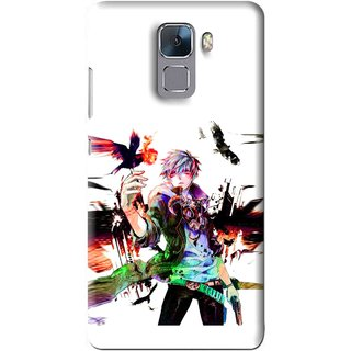 Snooky Printed Angry Man Mobile Back Cover For Huawei Honor 7 - Multi