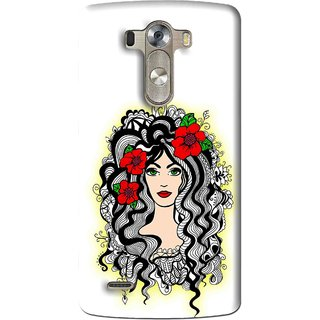 Snooky Printed Tarro Girl Mobile Back Cover For Lg G3 - Multi