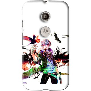 Snooky Printed Angry Man Mobile Back Cover For Motorola Moto E2 - Multi