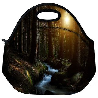 Water Flowing Travel Outdoor Tote Lunch Bag