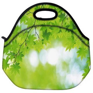 Green Leaves Tree Travel Outdoor Tote Lunch Bag