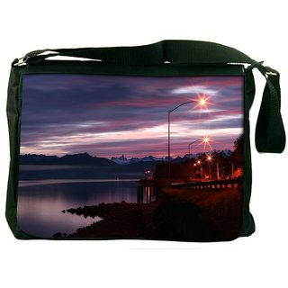 Alaskan Dawn Designer Laptop Messenger Bag