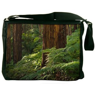 Small Plants In Forest Digitally Printed Laptop Messenger  Bag
