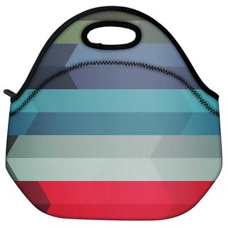 Abstract Colorful Strips Travel Outdoor Tote Lunch Bag