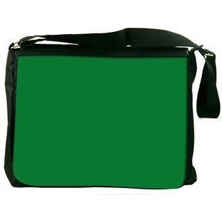 Plain Green Digitally Printed Laptop Messenger  Bag