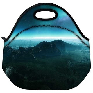 Neon Planet Travel Outdoor Tote Lunch Bag